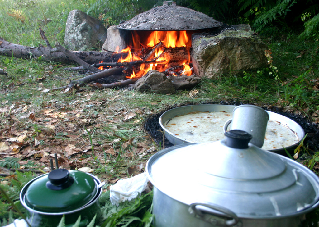 Baking of Flija - Traditional Albanian food