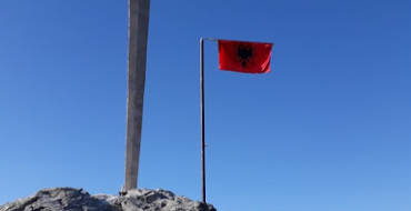 The historical sword of Skenderbeu reenacted in Llap, Kosovo